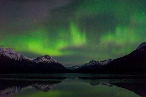 Aurora Borealis over Trail Lake