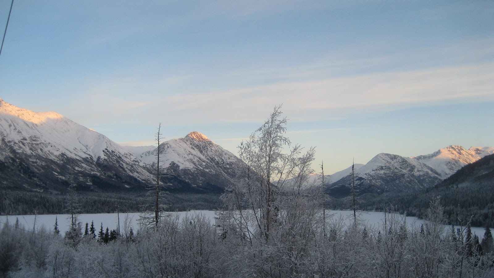 December Dawns in the Mountains
