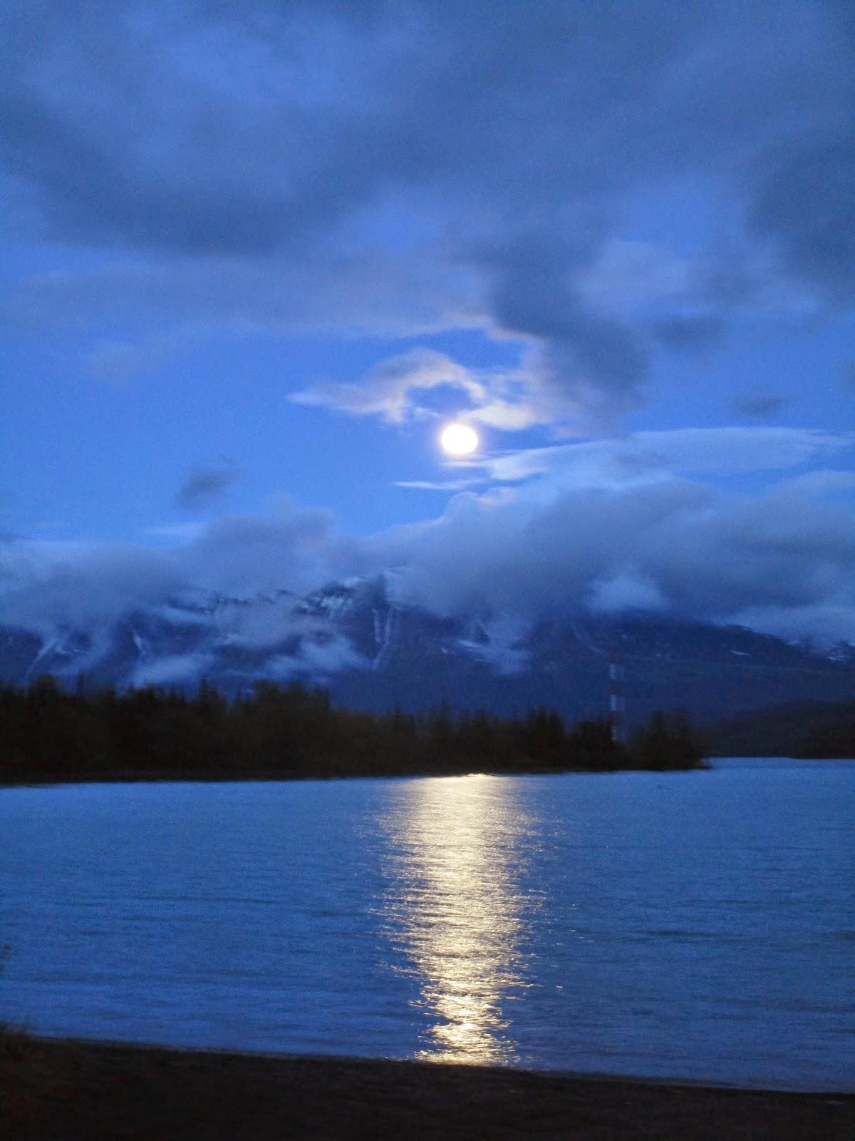 Fll moon over Kenai lake last night