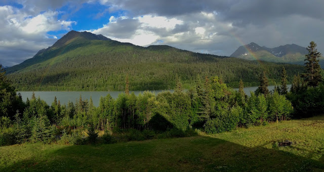 Chalets view w/ rainbow